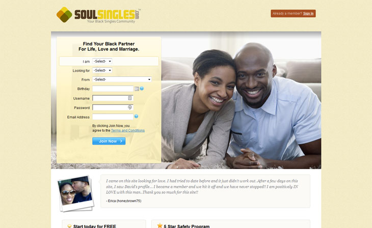 Black Dating Site for Single Men & Women